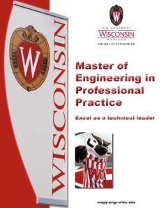 Masters of Engineering Professional Practice, University of Wisconsin